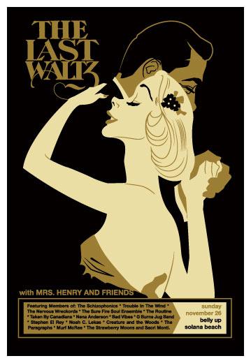Scrojo The Last Waltz Perfromance Poster