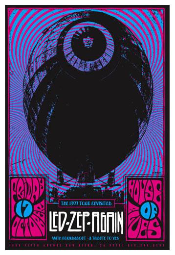 Scrojo Led ZepAgain (Zep-Again) Led Zeppelin Tribute Band Poster