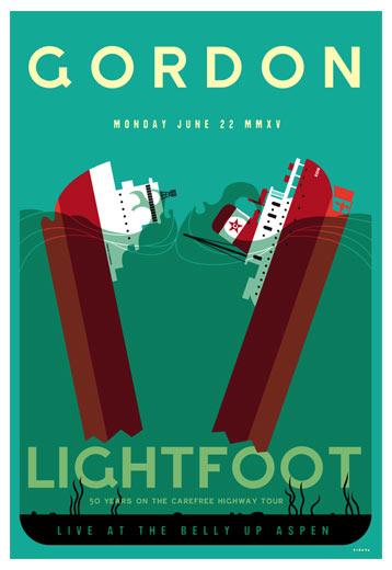 Scrojo Gordon Lightfoot Poster