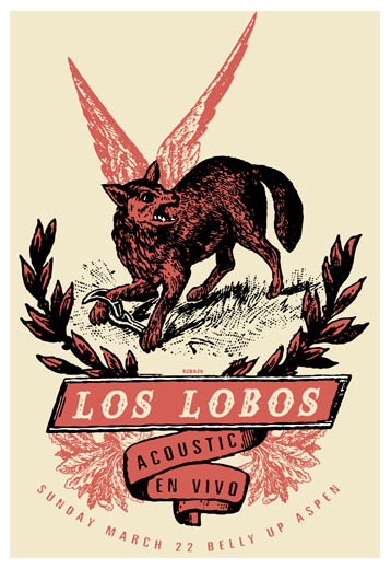 Scrojo Los Lobos Poster