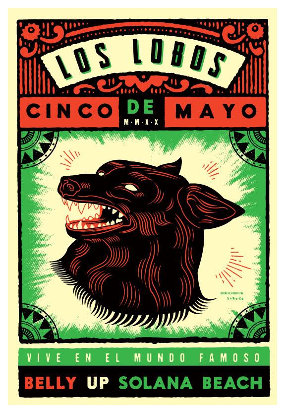 Scrojo Los Lobos Cinco de Mayo Concert Poster