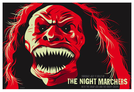 scrojo the night marchers poster the night marchers the cheap leis the ...