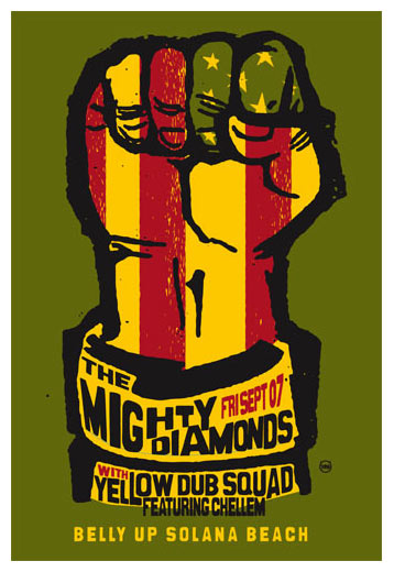 Scrojo The Mighty Diamonds Poster