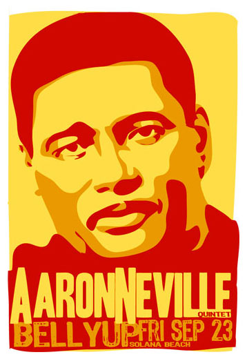 Scrojo Aaron Neville Quintet Poster