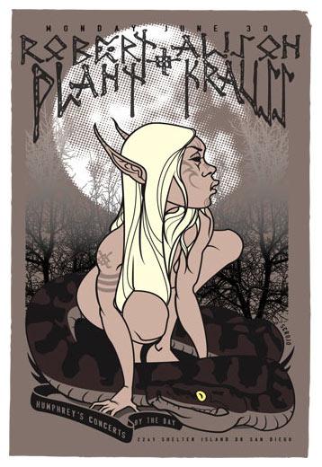 Scrojo Robert Plant and Alison Krauss Poster