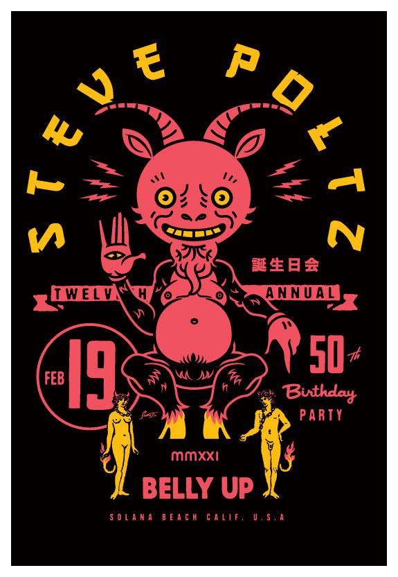 Scrojo Steve Poltz Twelfth Annual 50th Birthday Party Poster