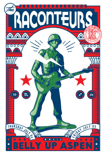 Scrojo The Raconteurs Poster