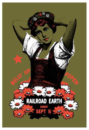 Scrojo Railroad Earth Poster