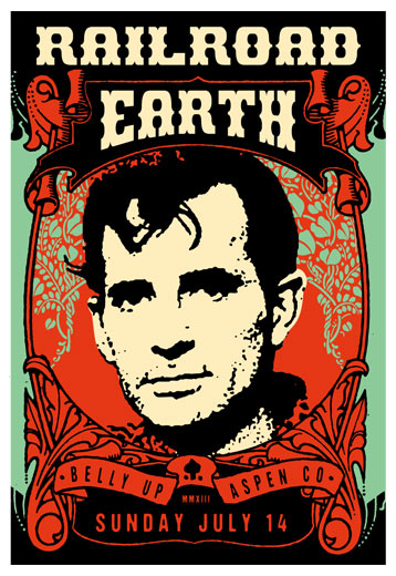 Scrojo Railroad Earth Poster