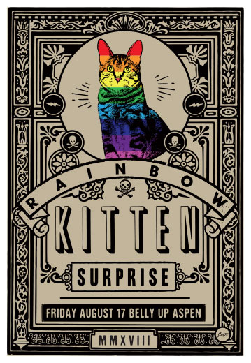 Scrojo Rainbow Kitten Surprise Poster