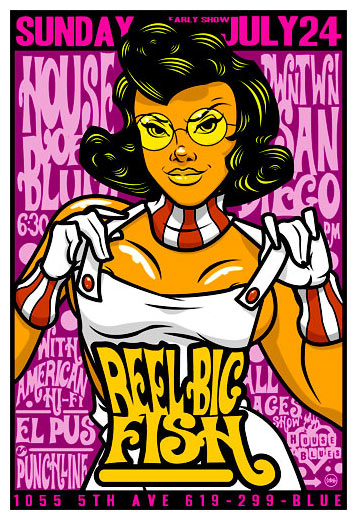 Scrojo reel big fish house of blues san diego ca poster for Reel big fish
