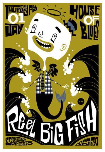 scrojo reel big fish house of blues san diego ca poster. Black Bedroom Furniture Sets. Home Design Ideas