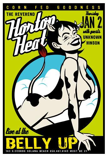 Scrojo The Reverend Horton Heat Poster
