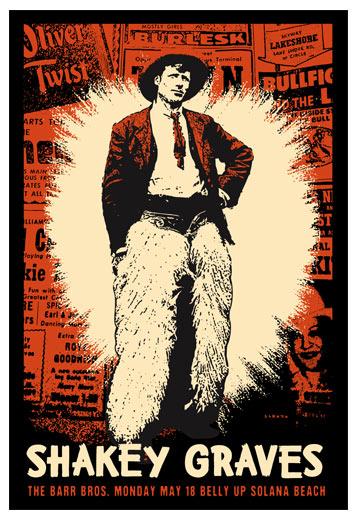 Scrojo Shakey Graves Poster