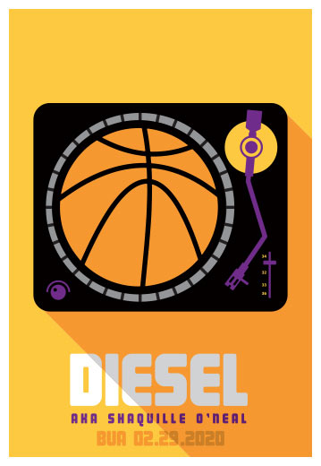 Scrojo Diesel (Shaq) Poster
