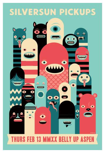 Scrojo Silversun Pickups Poster