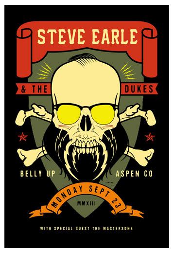 Scrojo Steve Earle and the Dukes Poster