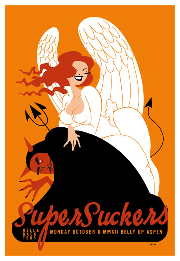 Scrojo Supersuckers - Hell and Back Tour Poster