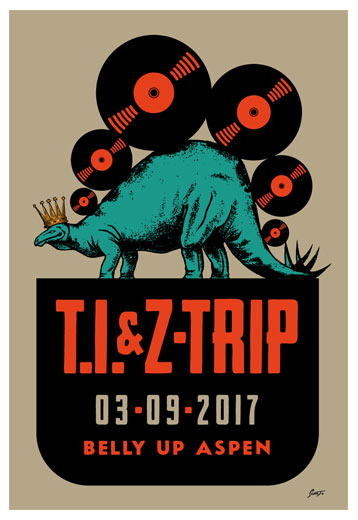 Scrojo T.I. and Z-Trip Poster