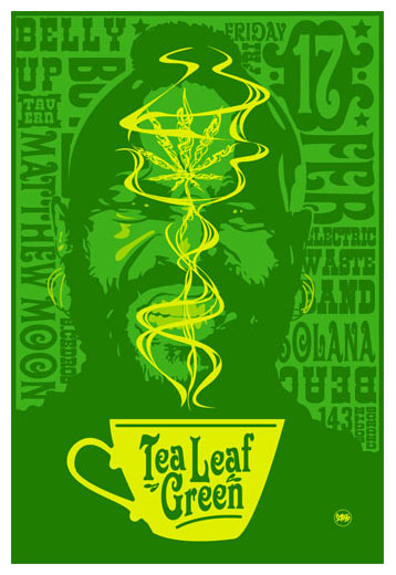 scrojo tea leaf green belly up tavern solana beach ca poster