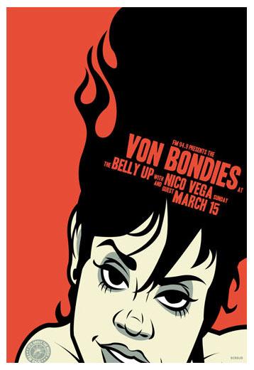 Scrojo Von Bondies Poster