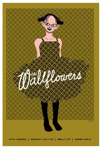 Scrojo The Wallflowers Poster