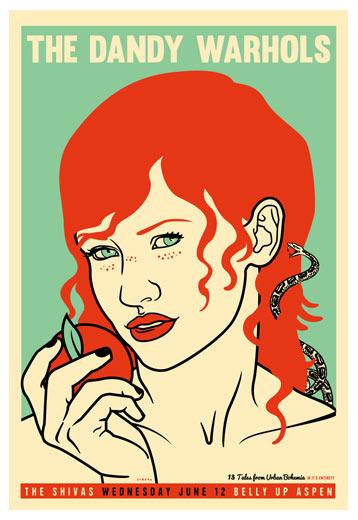 Scrojo Dandy Warhols Poster