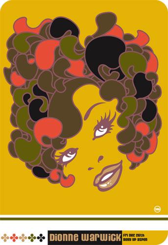 Scrojo Dionne Warwick Poster