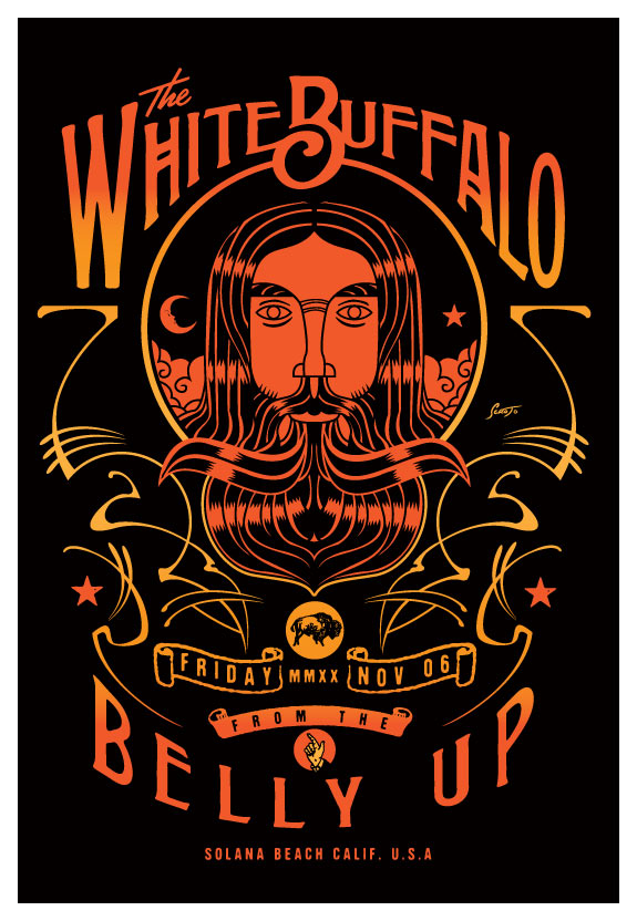 Scrojo The White Buffalo Poster