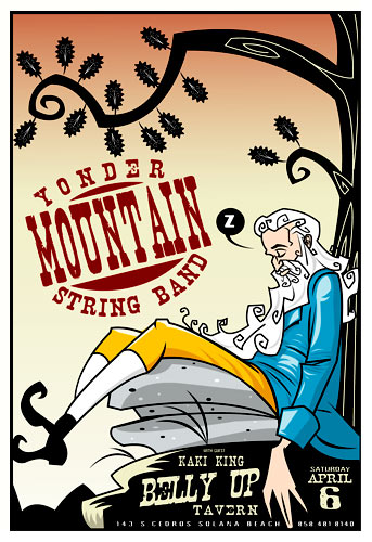 Scrojo Yonder Mountain String Band Belly Up Tavern Poster