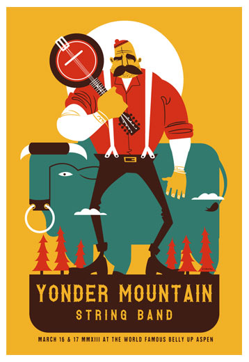 scrojo yonder mountain string band belly up aspen  aspen  co poster
