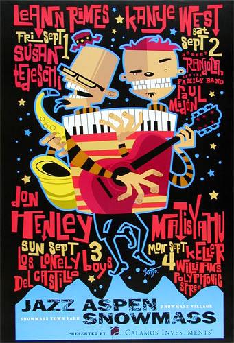 Scrojo Kanye West Jazz Aspen Snowmass Poster