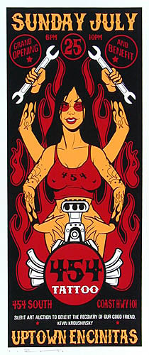 Scrojo 454 Tattoo Poster