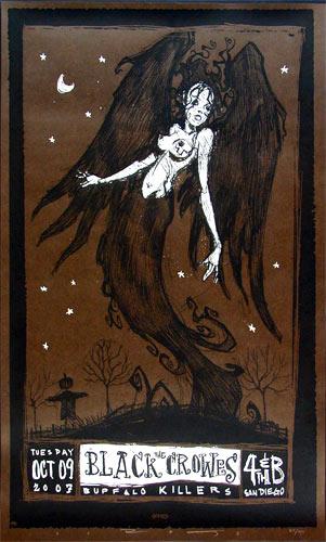 Scrojo Black Crowes Poster
