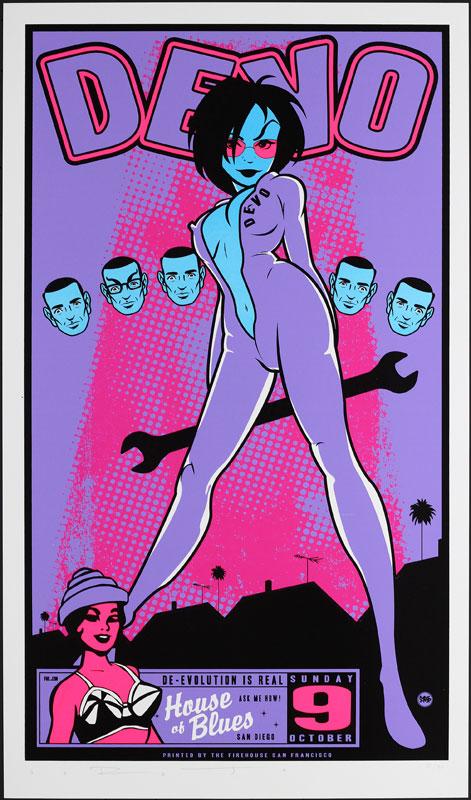 Scrojo Devo Purple Variant Poster
