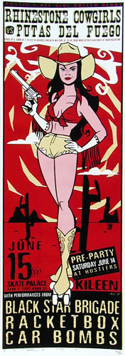 Scrojo Rollergirls Kileen Poster