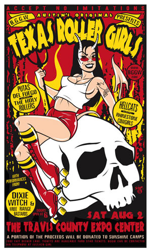 Scrojo Texas Roller Girls Poster