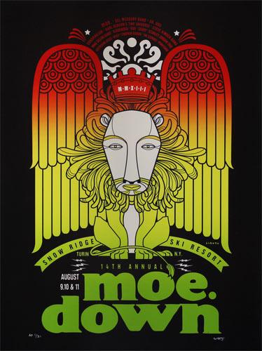 Scrojo Fourteenth Annual moe. down Poster