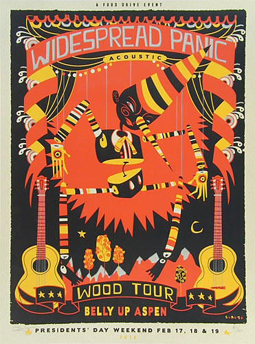 Scrojo Widespread Panic Wood Tour Poster