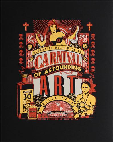 Scrojo Carnival of Astounding Art Poster