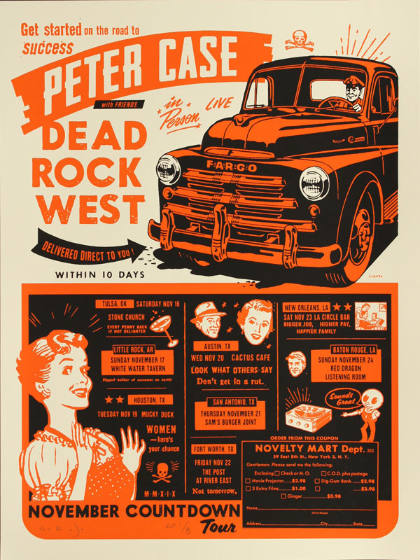 Scrojo Peter Case with Dead Rock West Poster