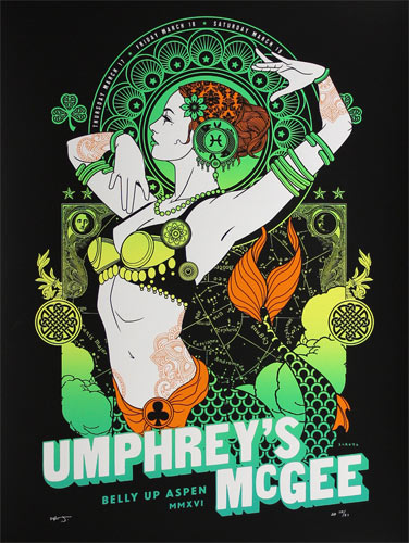 Scrojo Umphrey's McGee St. Patrick's Day 2016 Poster