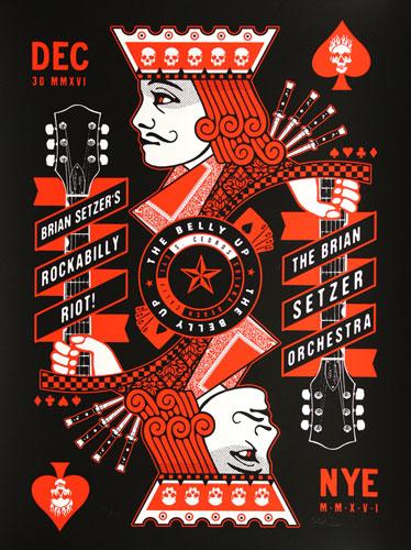 Scrojo Brian Setzer Orchestra Poster