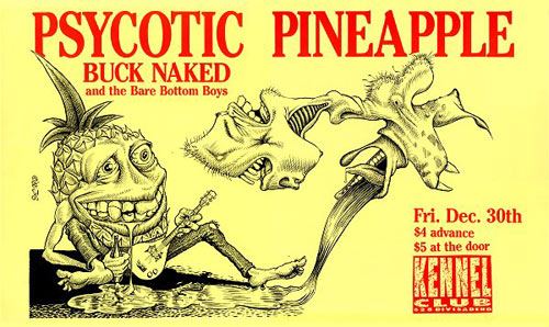 John Seabury Psycotic Pineapple Buck Naked Poster