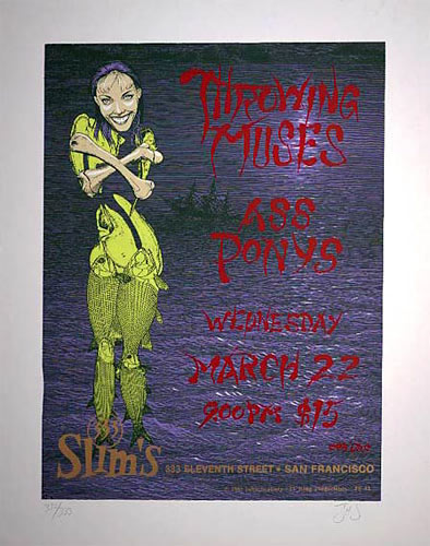 John Seabury Throwing Muses Poster