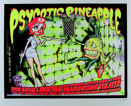 John Seabury Psycotic Pineapple and Buckethead Poster