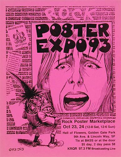 John Seabury Rock Poster Expo 1993 Pyno Man Poster