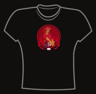 Art of Modern Rock<BR>Devil Girl - Women's L T-Shirt