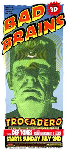 Psychic Sparkplug Bad Brains Poster