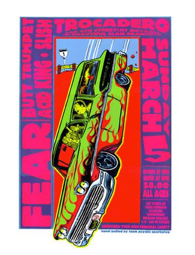 Psychic Sparkplug Fear Poster